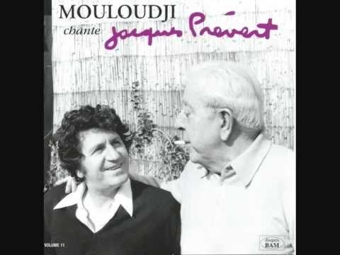 """Mouloudji chante Prévert """"Les feuilles mortes"""" (Prévert/ Kosma) version ..."""
