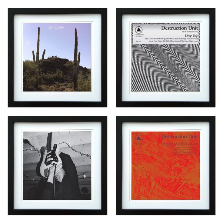 Destruction Unit | Framed Album Art Set of 4 Images | ArtRockStore