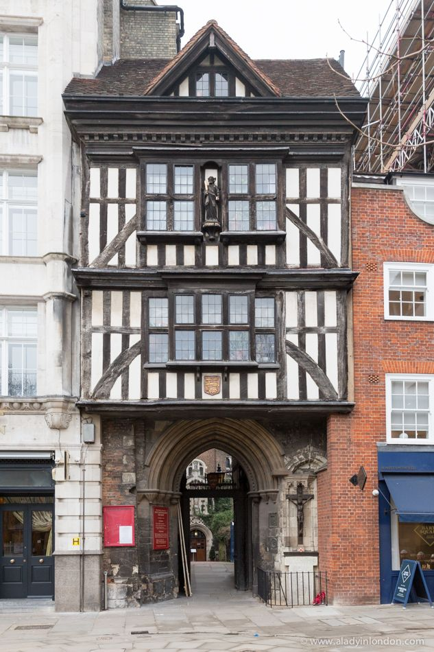 St Bartholomew's Gatehouse in Smithfield, London is a rare example of Tudor architecture in England.