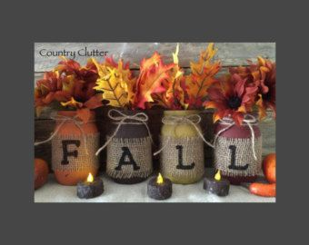 Fall Decor Fall Sign Fall Burlap Decor Fall by CountryClutterHome