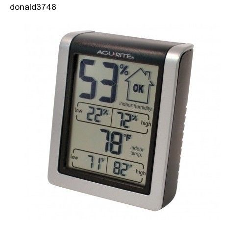 NEW! AcuRite Indoor Humidity Monitor Weather Temperature Gauge Thermometer