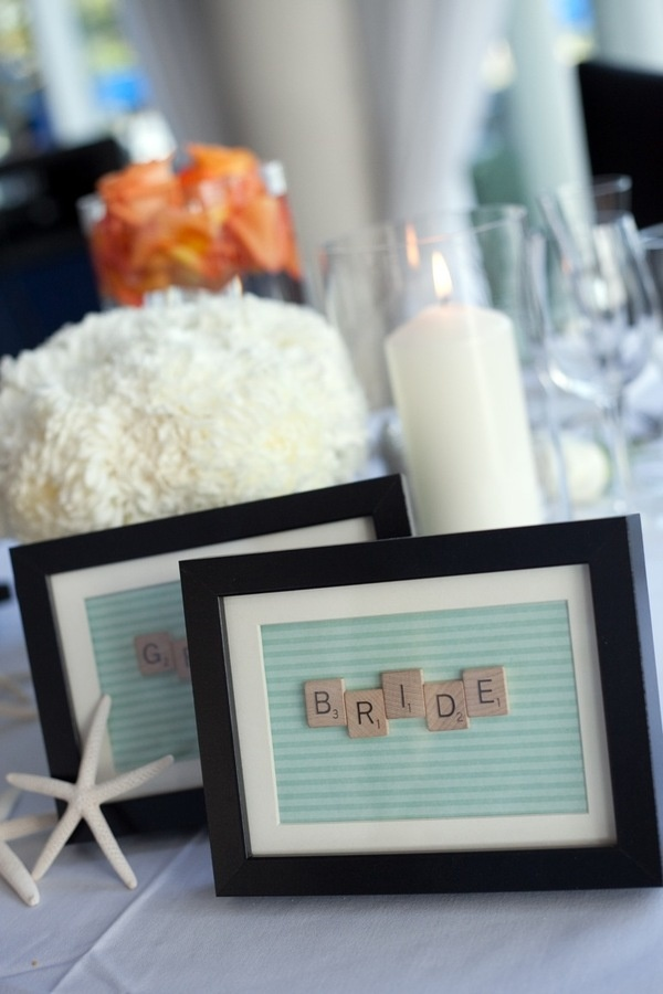 scrabble pieces for table settings