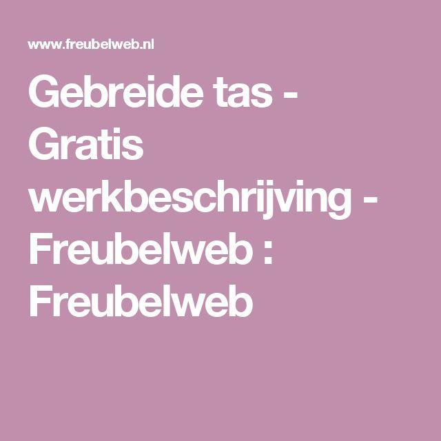 Gebreide tas - Gratis werkbeschrijving - Freubelweb : Freubelweb