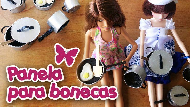 Como fazer Panelas para Barbie e outras bonecas com Papel!