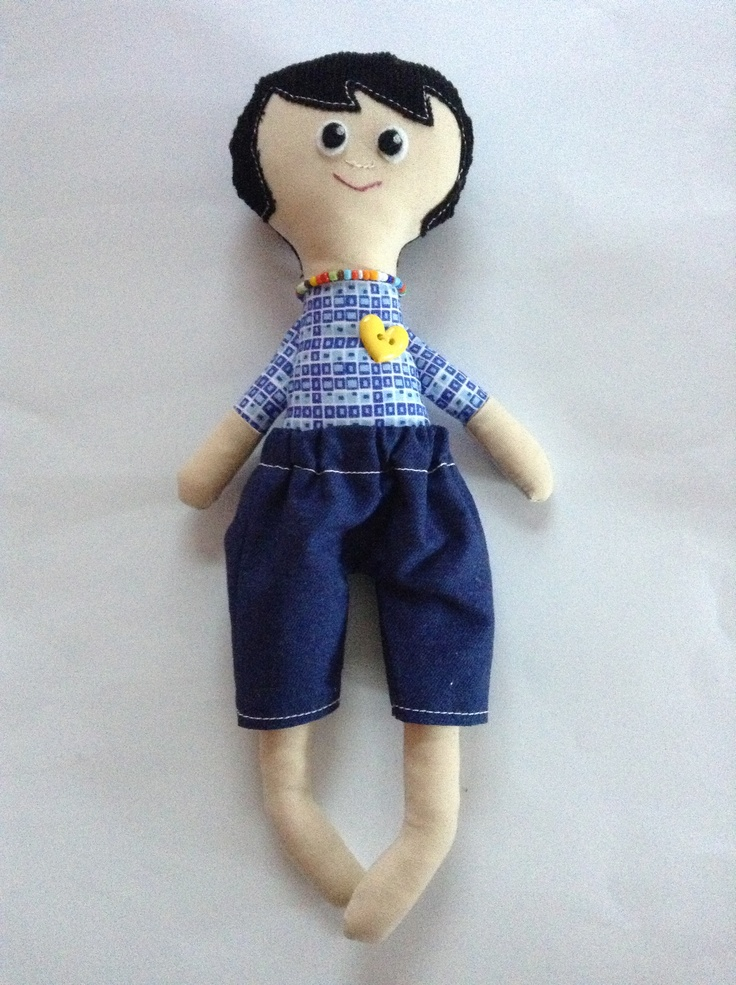 Jack, an oh so cute boy doll, ready for action in his denim shorts!