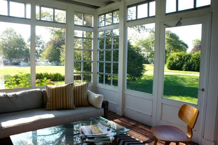 Our third architectural move? We screened in the side porch, located in a breezy spot on our our property, and created a mosquito-free outdo...: Screenedin Porches, Screens Porches, Outdoor Rooms, Sunroom And Patio, Houses Ideas, Side Porches, Back Porches, Around The World, Houses Tours