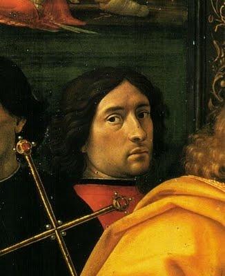 Domenico Ghirlandaio (Italian: 1449-1494) - Renaissance Artist - Self Portrait (Detail)