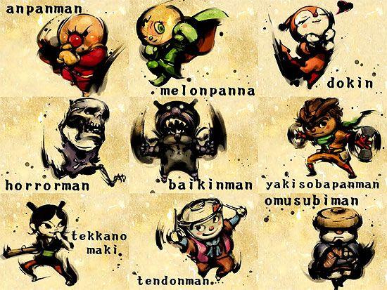 090504 anpanman 【2DCG】 youtube 『アンパンマンのキャラクターを格ゲー風に描いてみた』