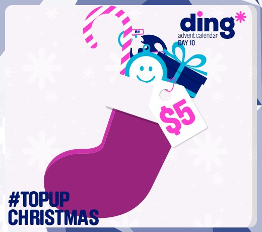 Can you believe its day 10 of our #Christmas #Advent Calendar?! We found $5 top-up in our Christmas stocking and we want to give it to you! All you have to do is tell us what you want to find in your stocking this year for your chance to win! Good luck! #TopUpChristmas www.ding.com