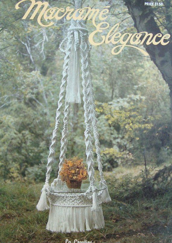Macrame Patterns Vintage Macrame Elegance Hanging Table