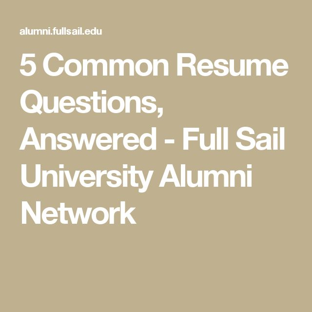 The 25+ best Full sail university ideas on Pinterest Master of - resume questions