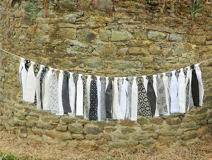 Fabric Garland, Vintage Inspired, Quilt Fabrics, Banner, graduation, black and white Cloth, for Girls Bedroom, happy birthday, celebrations, by AlsCraftyCorner on Etsy