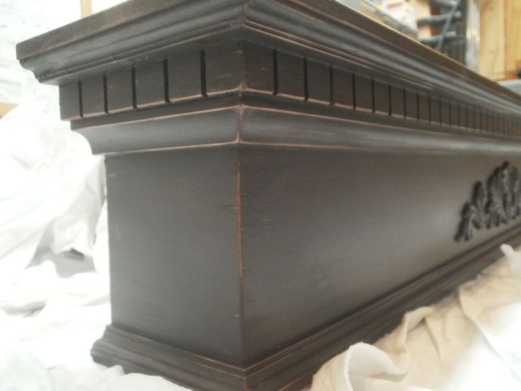 Custom Made Slightly Distressed Fireplace Mantel (Mantle)