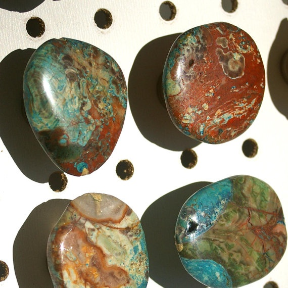 Pulls and knobs a collection of ideas to try about home for Turquoise door knobs