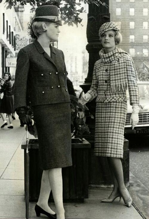 1963: Suits With Hats, 1950 60 S Fashion, Fashion Muse, 1960S Inspiration, Tweed Suits, Fashion Photography, 195060S Fashion, 60S Retro, 1963 Fashion