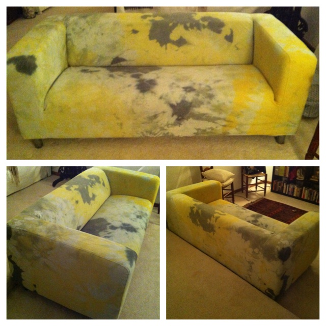 My Tie Dyed Ikea Couch Cover