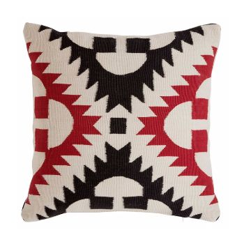 Red & Black Cojin Cushion: By Sandra Figuerola. Following the success of her Catania rug collection these 3 striking cushions have been created to create the perfect look.