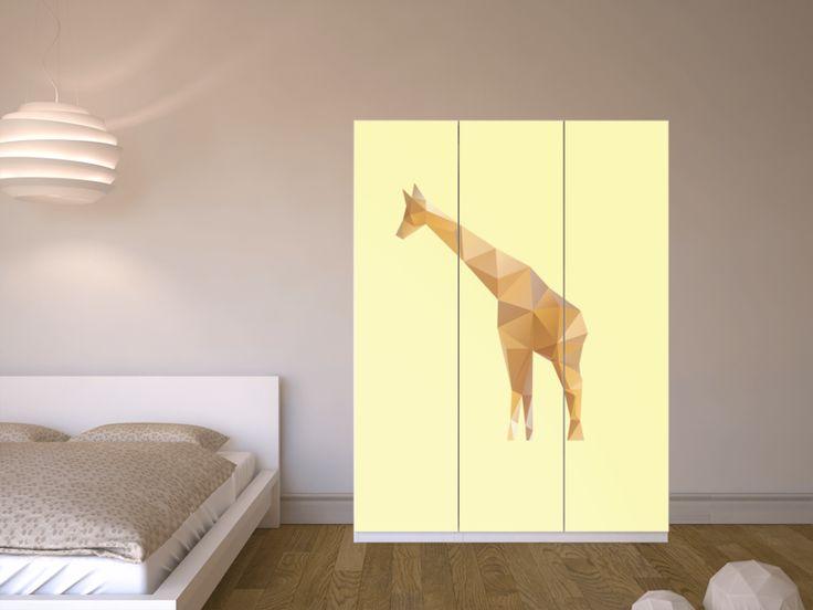 Good Designfolie Origami Giraffe f r dein Pax Schrank cm H he T ren