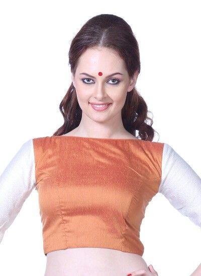 Typical 60's style saree blouse...I ♥ this!