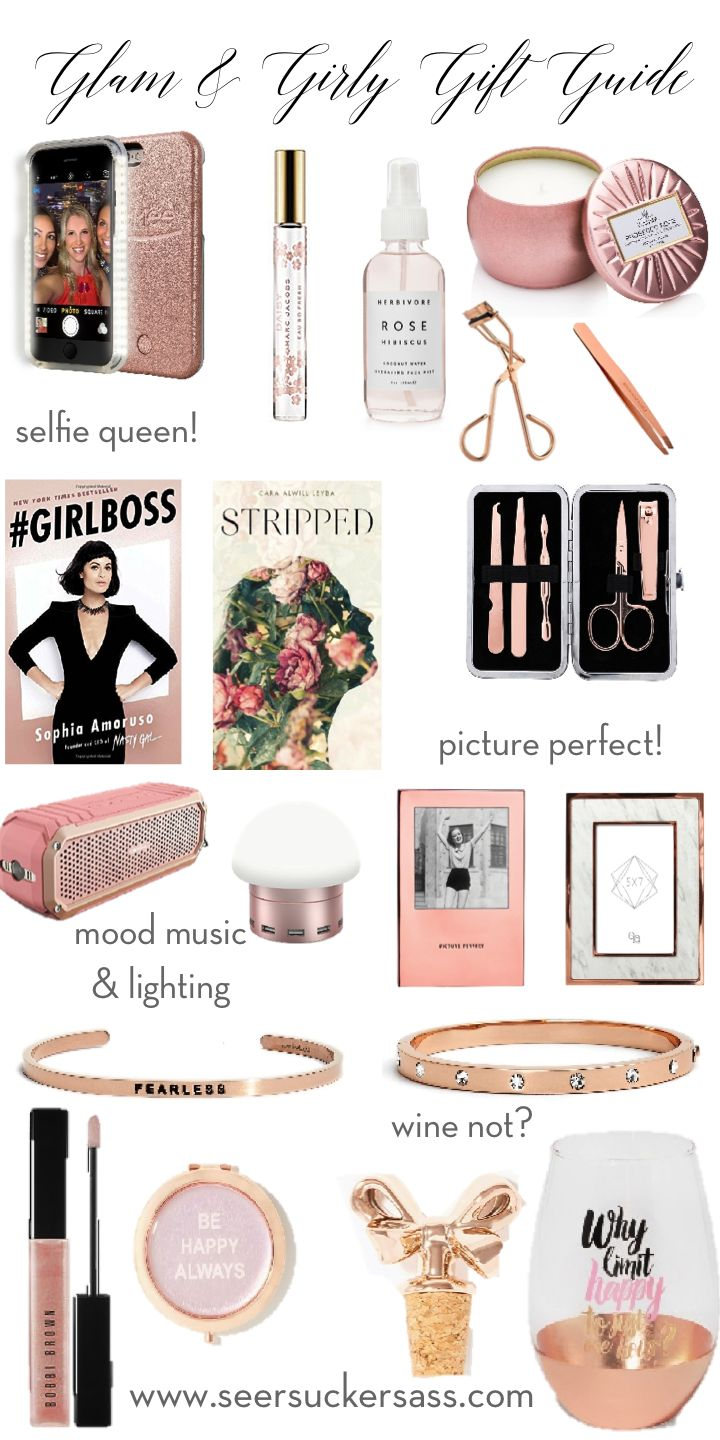 Glam & girly gifts for her!  (All gifts under $55!)