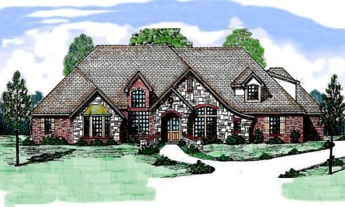 HousePlans.com 52-193Style House,  Thatched Roof, Plans 52193, Dreams House, Houseplans Com, French Country, Monsters House, Houseplanscom 52193, House Plans