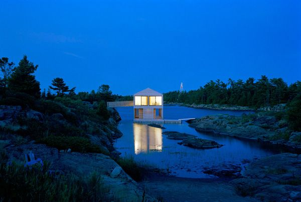 floating house on lake Huron