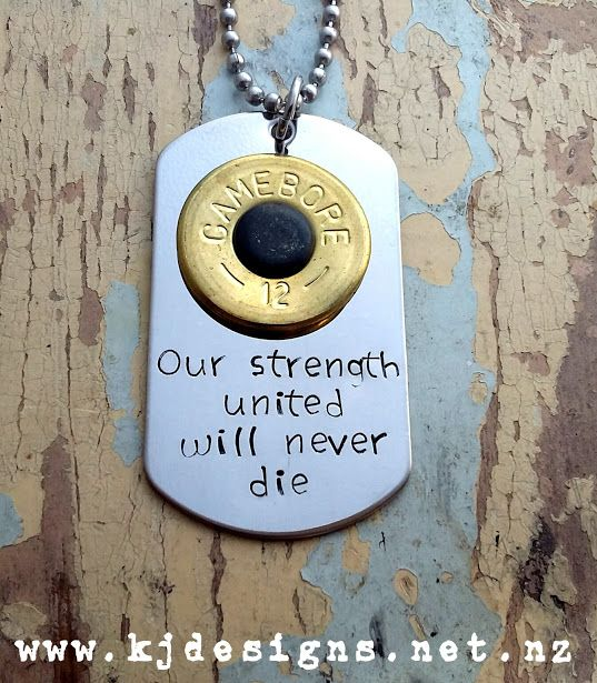 Strength United Pendant ... If you love my Shotgun Shell Jewellery - you'll love this Dog Tag !