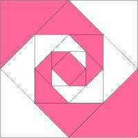 365 Paper Pieced Quilt Blocks: Block #49 - Virginia Reel- Free pattern