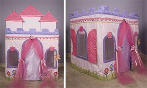 """Card Table Playhouse Pattern """"Princess Dream Castle"""" - Click Image to Close"""