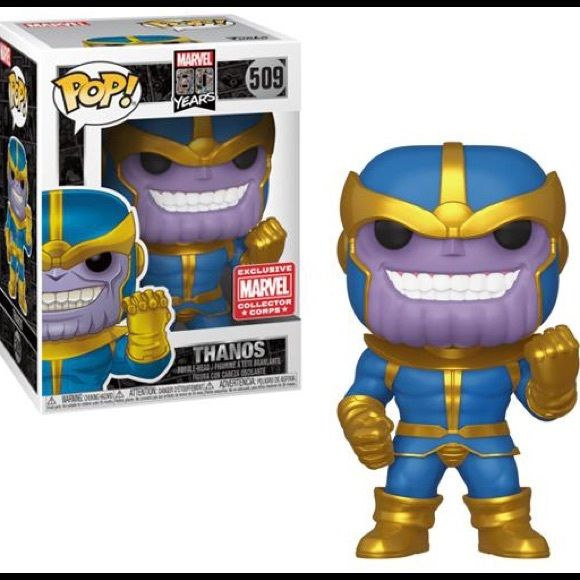 Funko Pop Marvel Collector Corps 80th Thanos In 2020 Funko Pop Marvel Pop Marvel Funko Pop