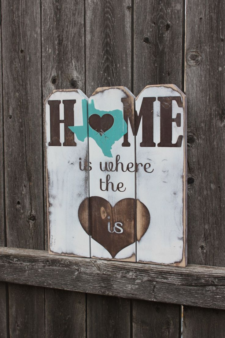 Texas Home Sweet Home Picket Fence Sign, State Customizable Wall Art, Rustic Fence Home Decor by TorreysTouches on Etsy https://www.etsy.com/listing/215520403/texas-home-sweet-home-picket-fence-sign