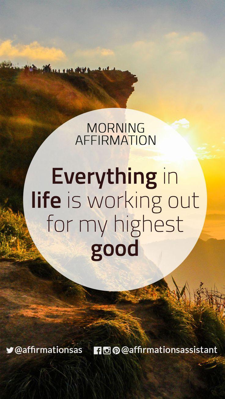 Morning Affirmation: