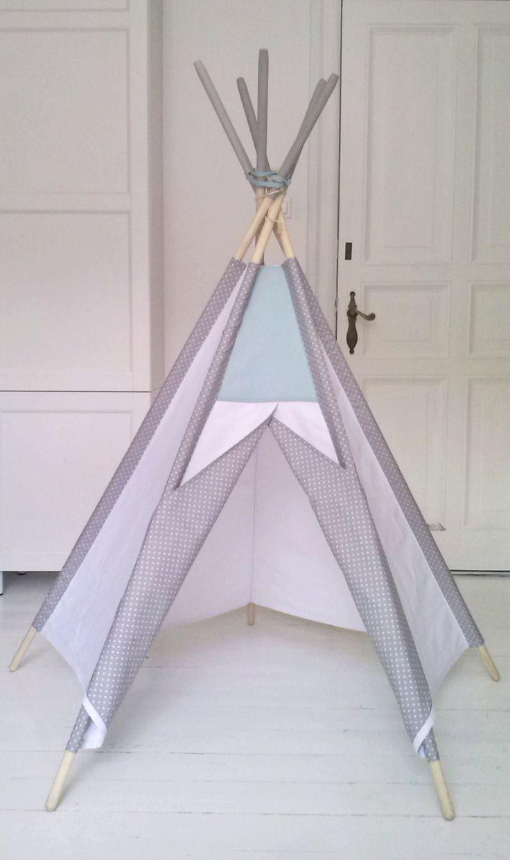 LittleNOMAD's white+mint teepee available here: littlenomad.pakamera.pl, direct order: hellolittlenomad@gmail.com #handmade #design #kidsroom #playtent #tipi #teepee #wigwam