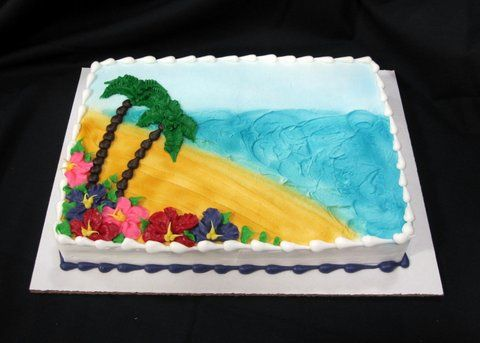 Beach Birthday - Custom Birthday Cakes - Dining Services ||| Miami University