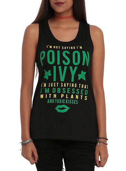 hot+topic+poison+ivy+shirt | DC Comics Poison Ivy I'm Not Saying Girls Tank Top SKU : 10343109 ...