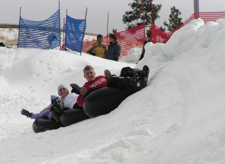 Snow tubing with the family in Big Bear Lake, California