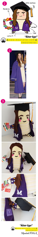 Diseño de Personaje, hecho a mano, peluches personalizados en Colombia por Mostretes. Producto ecológico Álter Ego o tu otro yo Tamaño 40 cm Material: Fieltro