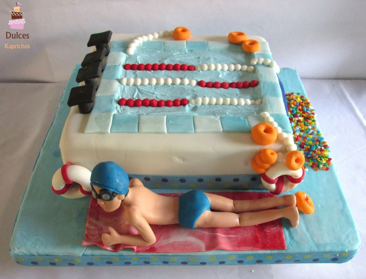Torta Piscina #TortaPiscina #TortasDecoradas #DulcesKaprichos