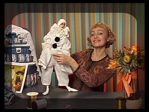 Create an author's doll from plastic mass on the basis of paperclay. Program 3. Diy. Handmade - YouTube