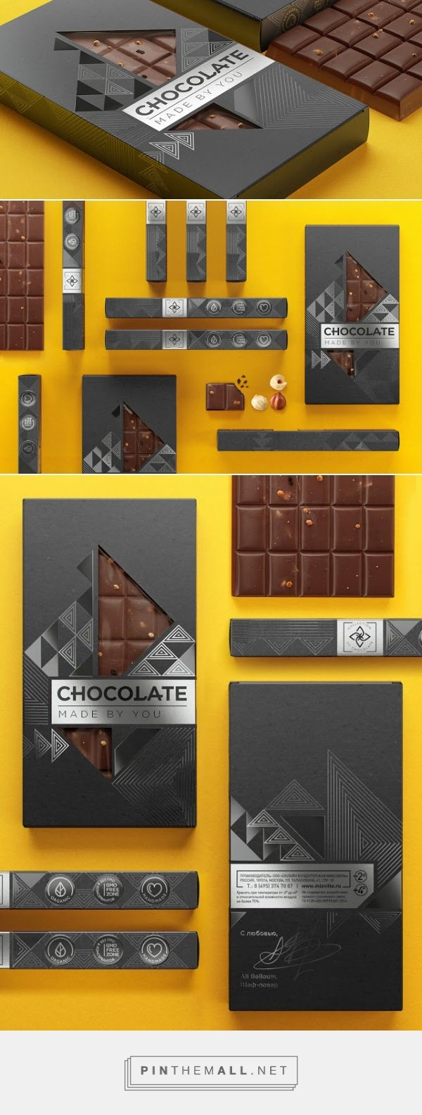 #Chocolate Made By You #packaging designed by BimBom - http://www.packagingoftheworld.com/2015/08/chocolate-made-by-you.html - created via http://pinthemall.net