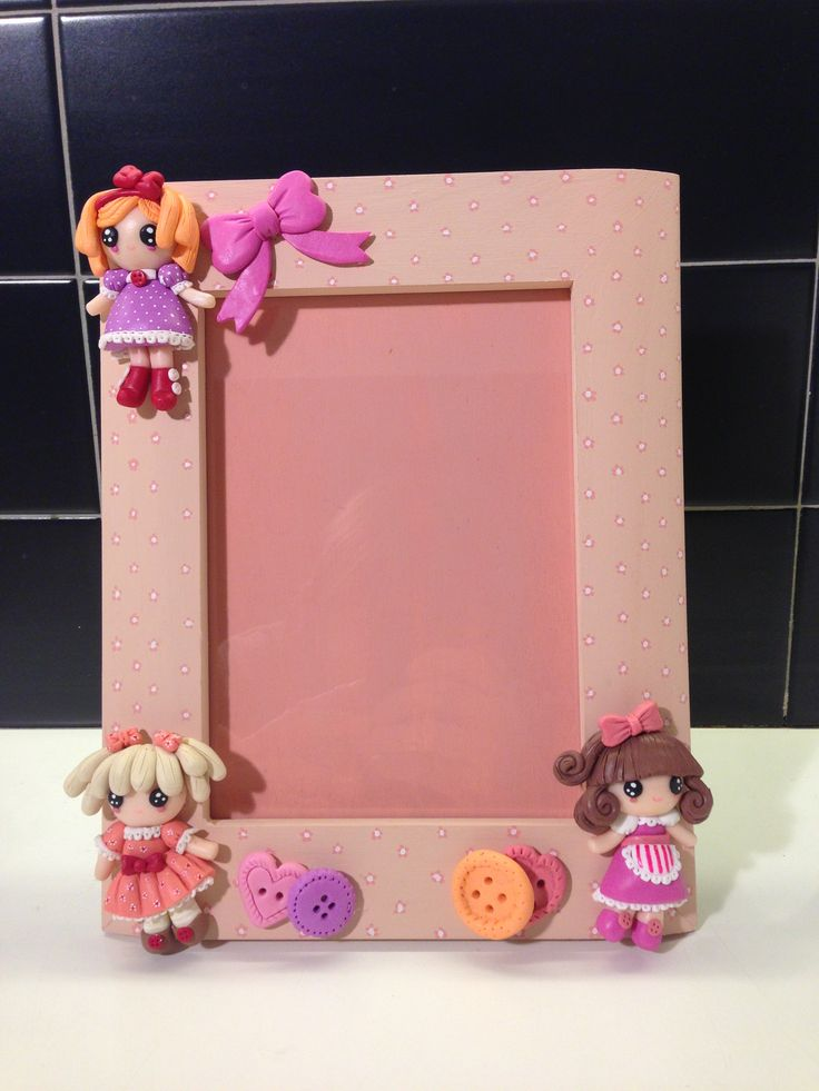 Rag Dolls frame - fimo decorated