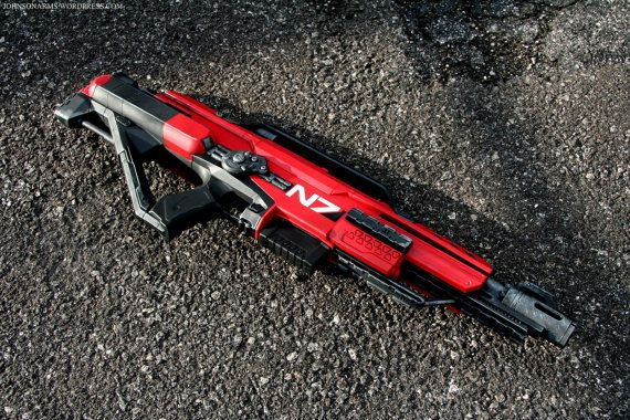 Ultimate Mass Effect Style Nerf Stampede by Johnson Arms on Etsy, $379.00