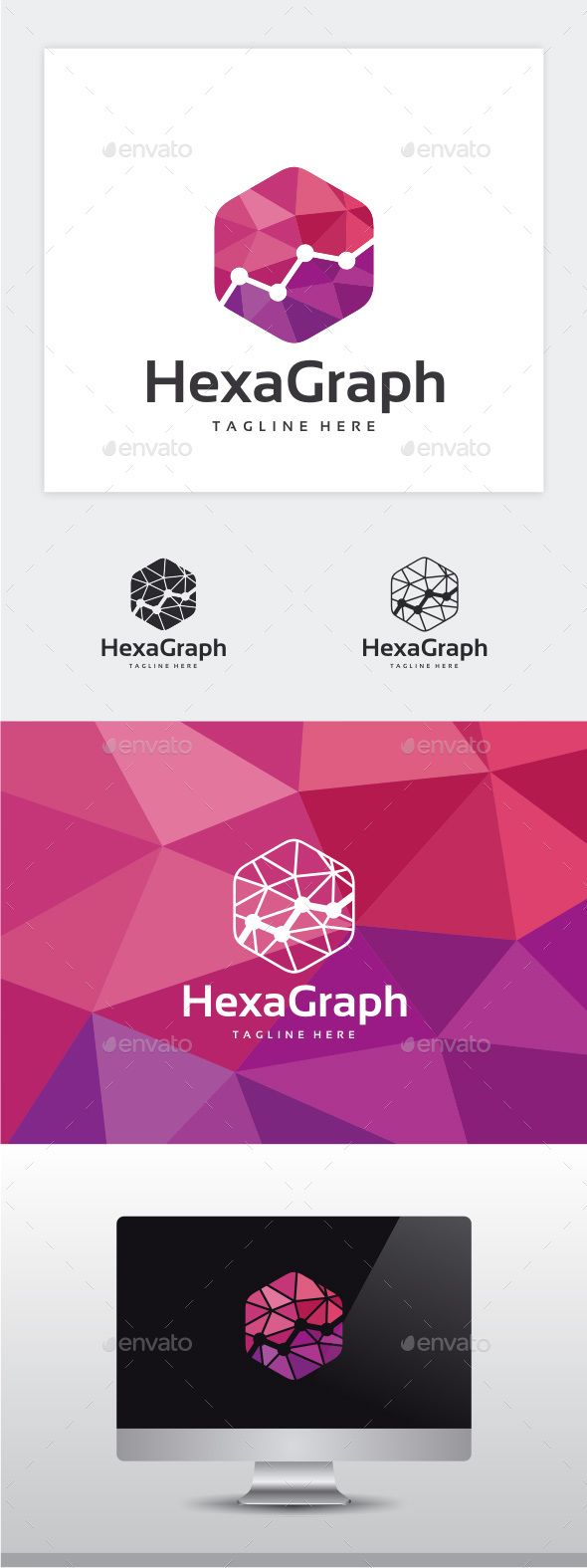 Hexa Graph Logo — Photoshop PSD #hexa #creative • Available here → https://graphicriver.net/item/hexa-graph-logo/14546714?ref=pxcr