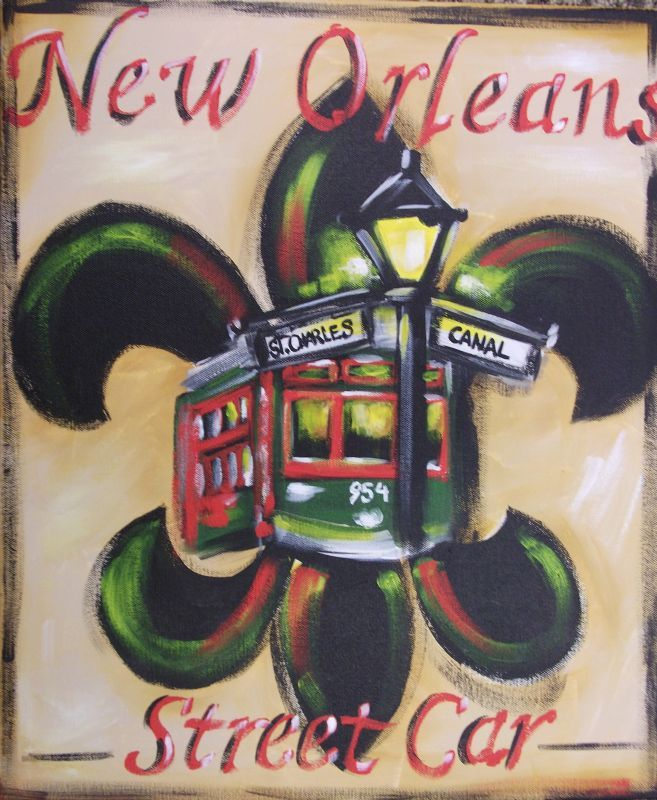 new orleans tattoo designs new orleans street car fleur de lis walk in wednesday. Black Bedroom Furniture Sets. Home Design Ideas