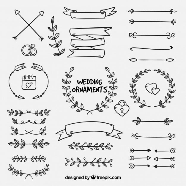 Download Hand Drawn Collection Of Wedding Ornaments For Free Wedding Ornament How To Draw Hands Hand Lettering