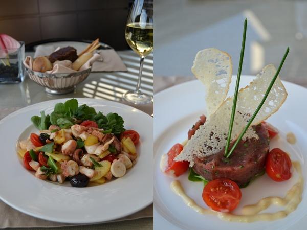 Armani Cafe @İstinyePark     Polipo- Ahtapot, patates, taze fasülye ve zeytinle birlikte  Tartara Di Tonno- Tuna Balığı Tartar, Akdeniz usülü roka, kiraz domates ve arpacık soğanlı mayonez ile