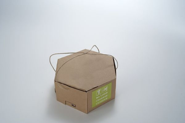 Sustainable Bagless Take-Out Packaging by JoAnn Arello, via Behance