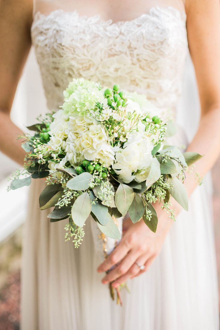 The dainty details match the bouquet and dress perfectly! View the full wedding here: http://thedailywedding.com/2015/12/11/georgian-barn-wedding-meg-owen/