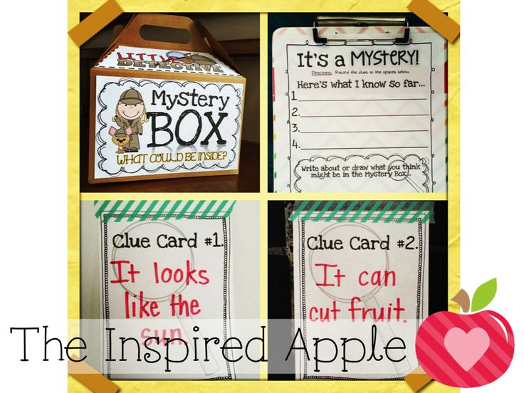 Adding a little mystery to school day is always fun!