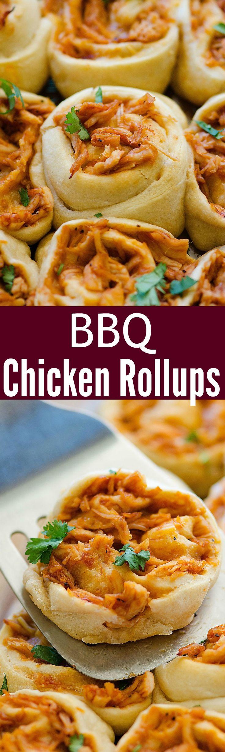 Absolutely #YUMMY #BBQ Chicken Roll-Ups Recipe!!!   ~XOX #MomAndSonCookingTeam